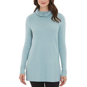 Adrienne Vittadini Reef Heather Cowl Neck Sweater